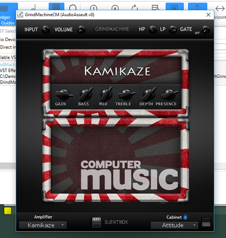 The Kamikaze Attitude VST Effect in GuitarSharp