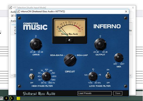 InfernoCM Shattered Glass Audio VST Effect in GuitarSharp