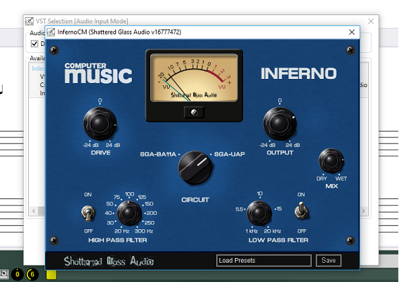 InfernoCM Shattered Glass Audio VST Effect in GuitarSharp